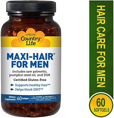 Country Life - Maxi-Hair for Men, with Saw Palmetto and DIM - 60 Softgels