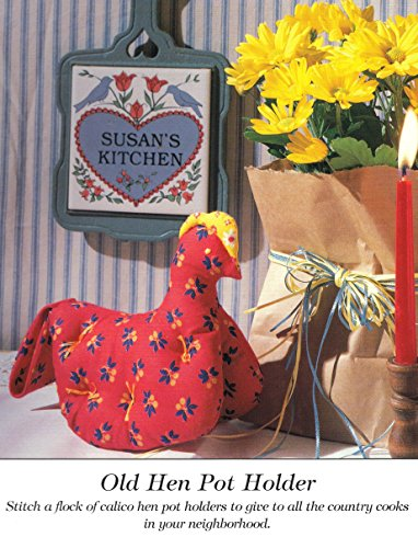 Old Hen Potholder - 1 Sewing Pattern