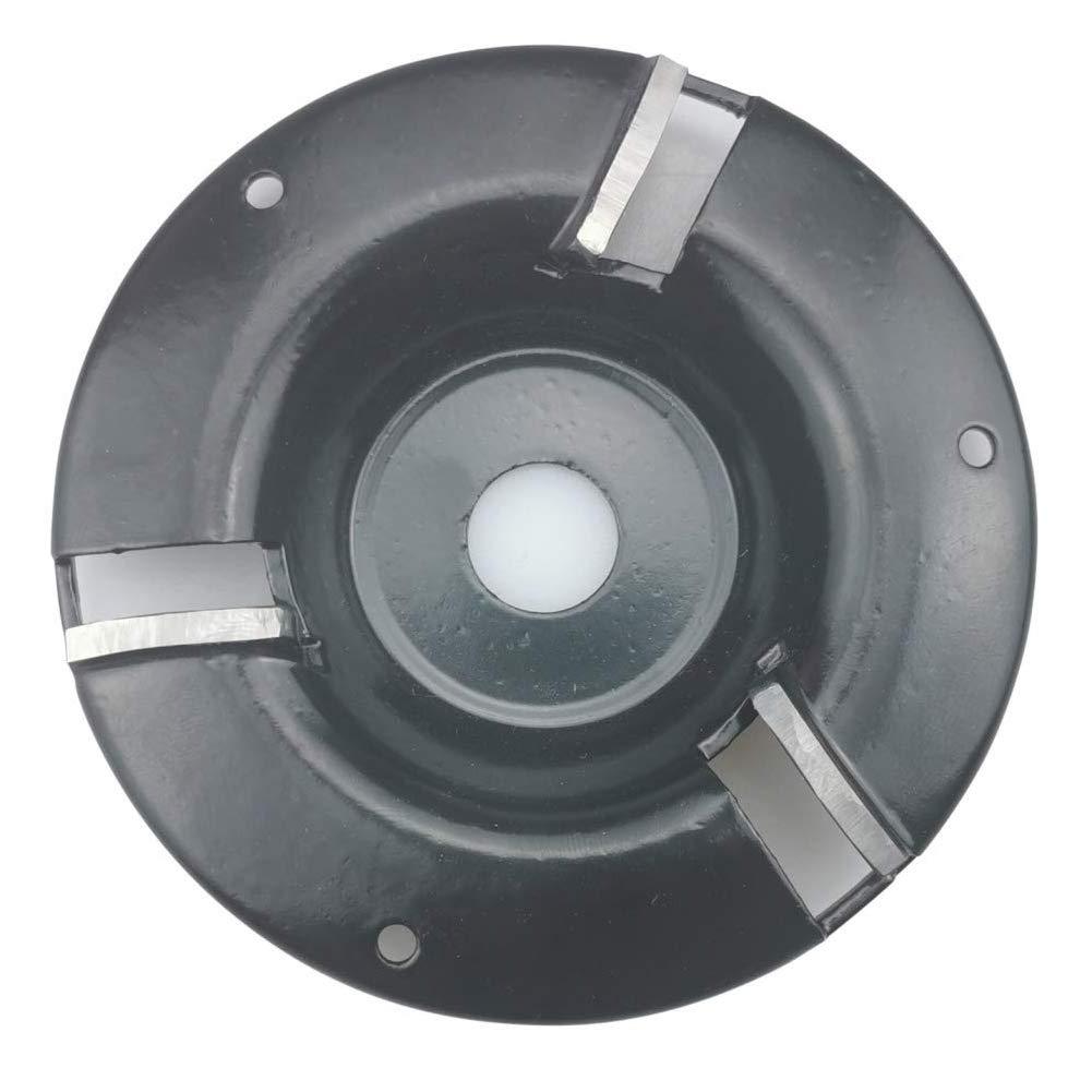 Disco Smerigliatrice Angolare in Legno Attacco a Tre Denti Vassoio Lavorazione Legno per Intaglio Legno Lucidatura Nero