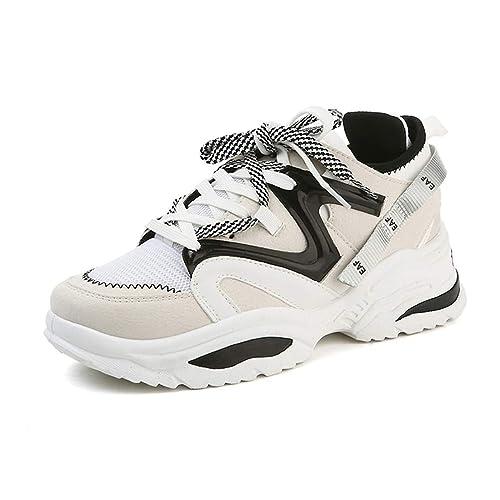 86cdd6b525c40 Mixte Adulte Chaussure de Sport Outdoor pour Multisport Compensé Respirant  Femme Homme Chaussure Basket Mode de