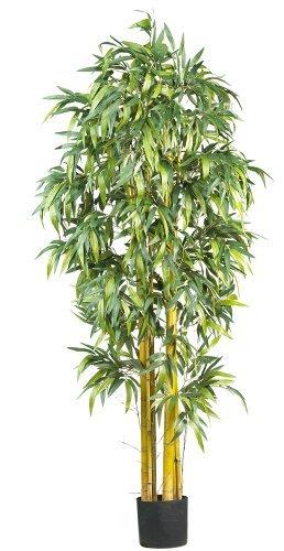 Nearly Natural 5190 Big Bamboo Silk Tree, 6-Feet, Green by Nearly Natural