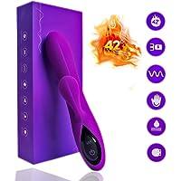 Vibratoren für Sie Dilos Sexspielzeug Frauen Vibrator, Klitoris und G-punkt Analvibrator für Paare mit Heizfunktion und 10 Vibrationsmodi Wasserfeste 3 Motors (Lila)