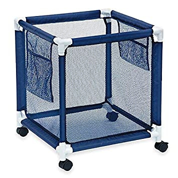 Pool Storage Bin - Standard Pool Accessories Organizer with Nylon Mesh  Basket for Swimming Pool Decks, Patio and on the Beach | Holds Beach  Towels, ...