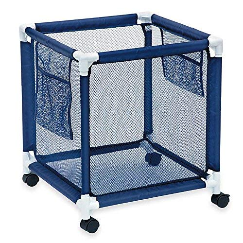 Sentrified Pool Storage Bin Standard Pool Accessories Organizer With Nylon Mesh Basket For Swimming Pool Decks Patio And On The Beach Holds Beach Towels Balls Linens And Floatation Devices