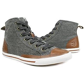 Burnetie Men's Light Carbon Black High Top Vintage Sneaker 11 M US