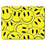 Yellow Smiley Face Collage Drugs Ecstacy Pill PC Computer Mousemat Mouse Mat Pad