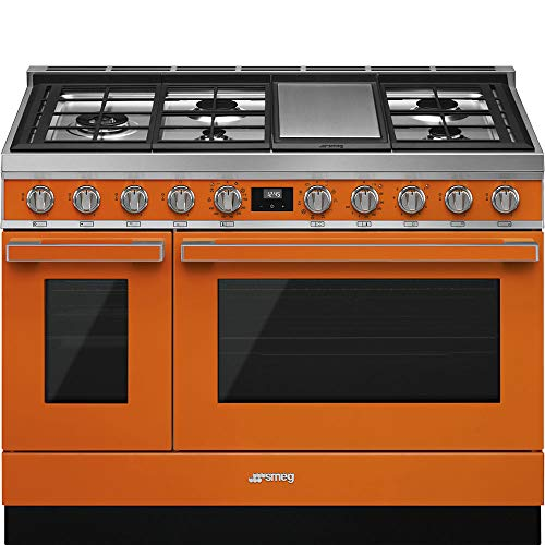 Smeg-Portofino-Pro-Style-Aesthetic-Series-48-Inch-Freestanding-Dual-Fuel-Range-Orange