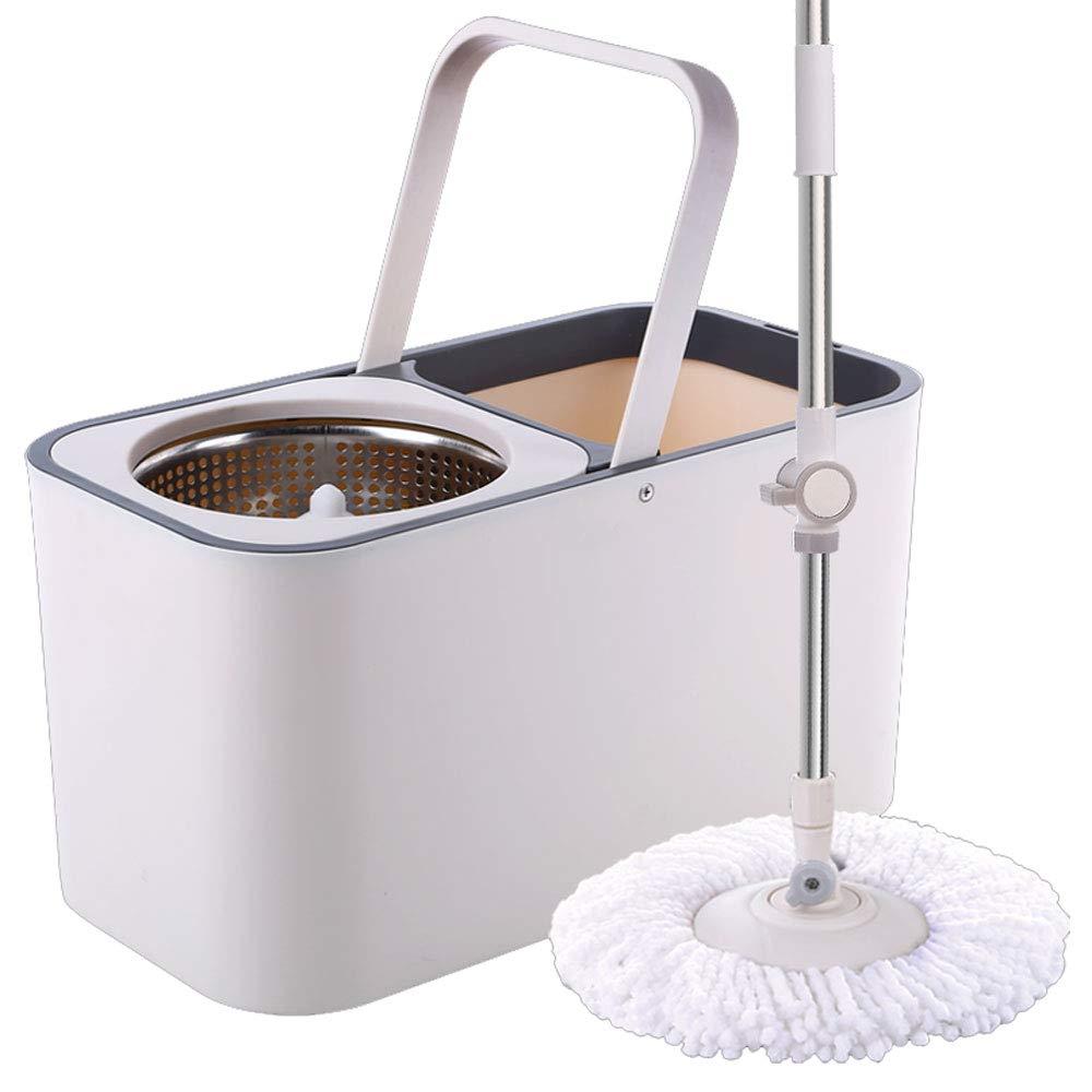 ZZHF 手洗いなしのモップバケツ、家庭用モップ、自動湿式および乾式モップ、両手プレスモップ ステンレス製モップ (サイズ さいず : B) B07L73TJ71  B