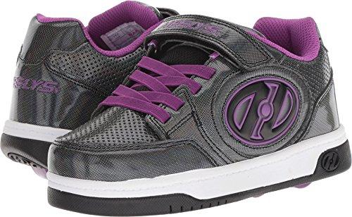 Pictures of Heelys Girls' Plus X2 Tennis Shoe Black HE100321 Black Sparkle/Purple 1