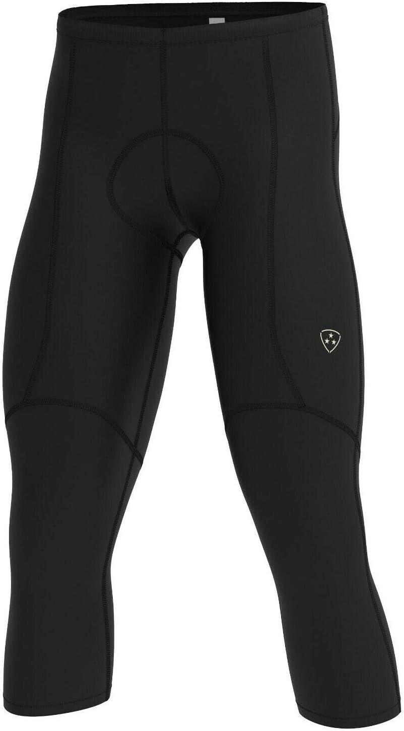 DHERA Men Cycling Padded Running Tights Shorts 3//4 Length Pants Compression Shorts