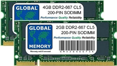 6gb Ddr2 667mhz Pc2 5300 200 Pin Sodimm Memory Ram Kit Amazon Co Uk Electronics