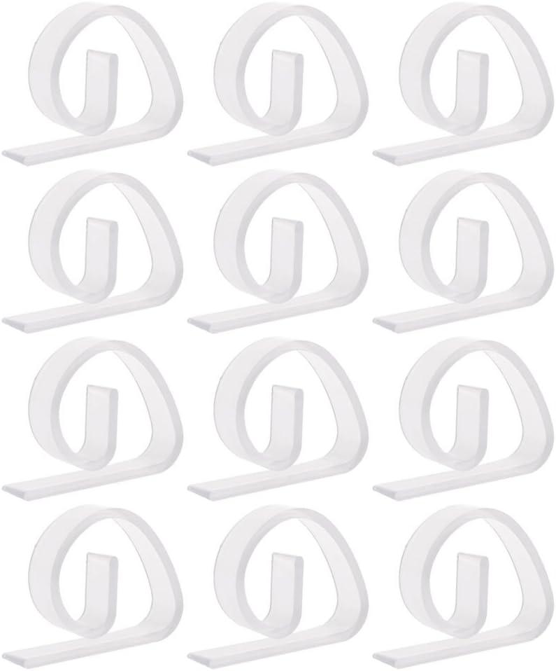 Fowler-8 Clips Mantel 12 Pack - Mantel De Plástico Transparente De Abrazaderas para El Hogar del Banquete De Boda De Picnic Barbacoa