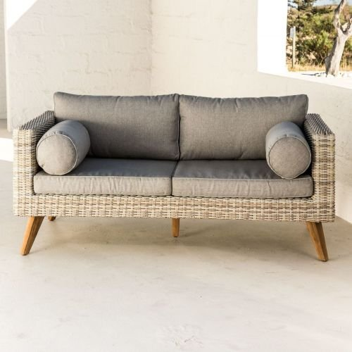 kasandria outdoor sofa grau 3 sitzer gartenm bel gartenlounge sofa gartensofa sch ner. Black Bedroom Furniture Sets. Home Design Ideas