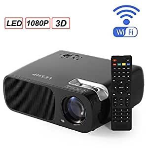 LESHP - LED Proyector Cine en Casa Multimedia Home Cinema WiFi ...