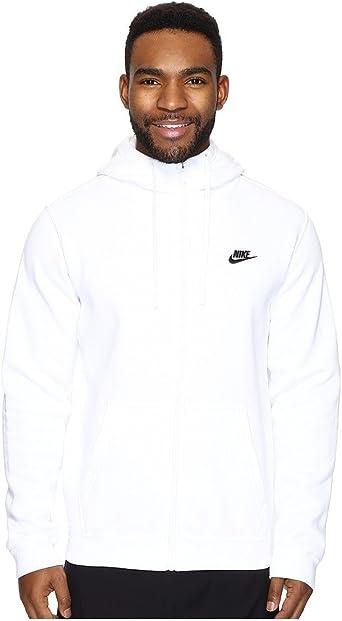 NIKE SPORTSWEAR Club Hooded Sweatshirt for Men White