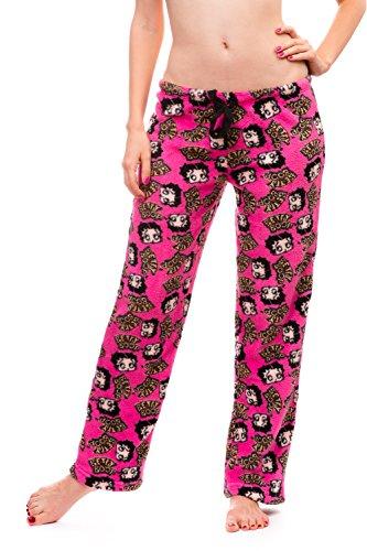 Betty Boop Women's Warm and Cozy Plush Pajama Bottoms (Large, Hot Pink) Betty Boop Pajamas