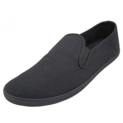 f07ddb67e11f LF Wear Mens Canvas Shoes Slip on Sneakers