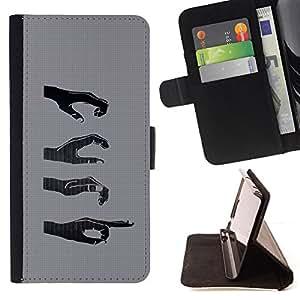 - Hands Signs/ Personalizada del estilo del dise???¡¯???¡Ào de la PU Caso de encargo del cuero del tir???¡¯????n del s - Cao - For Samsung Galaxy S5 Mini,