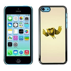 Cubierta de la caja de protección la piel dura para el Apple iPhone 5C - Minimalist Owl