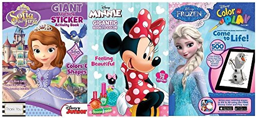 Age Ice 3 Stickers - Disney Frozen, Sofia the First and Minnie Mouse GIGANTIC Coloring Books with Over 1000 STICKERS