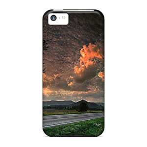 PjIxnje2703FeUlO Saraumes Under The Stormy Clouds Durable Iphone 5c Tpu Flexible Soft Case