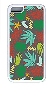 iPhone 5c Cases - Summer Unique Wholesale TPU White Cases Personalized Design Red Green Leaf