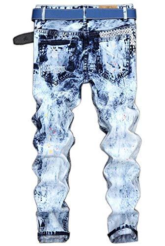 Vintage A Unita Con Bambini Foro Blau Getto D'inchiostro Tide Nuovi Tinta Per Lanceyy Stile Colorblock Semplice Jeans Eq8YFg