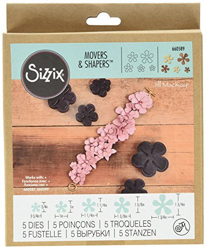 (Sizzix Movers and Shapers Magnetic Die Set, Carnation Stack by Jill MacKay)