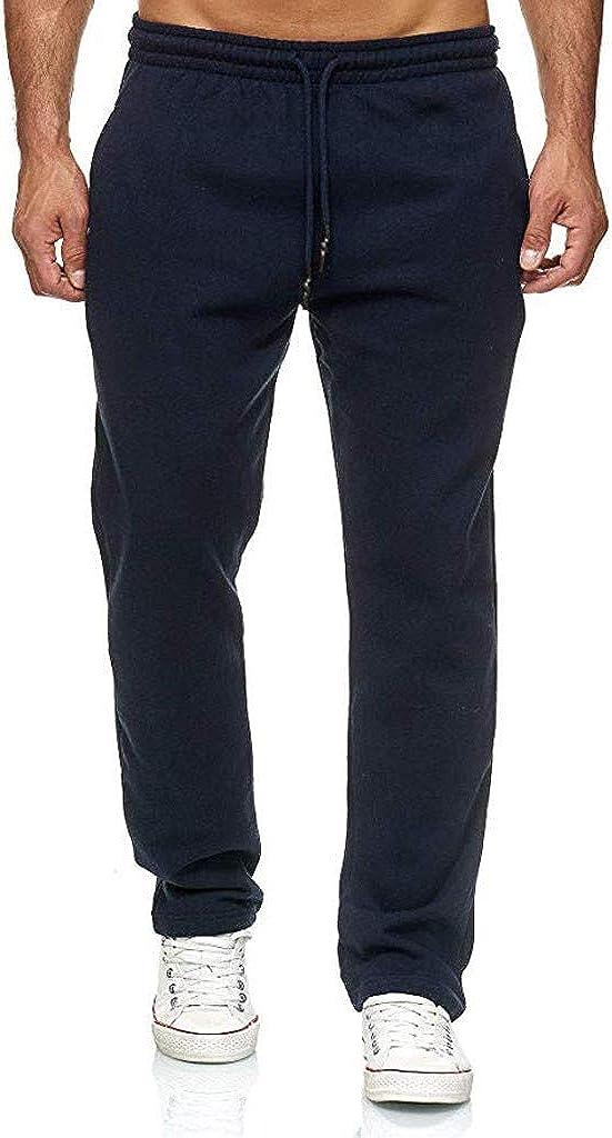 Mens Sweatpants Autumn Winter Fashion Long Casual Sport Pants Slim Fit Trousers Drawstring Running Joggers Trouse