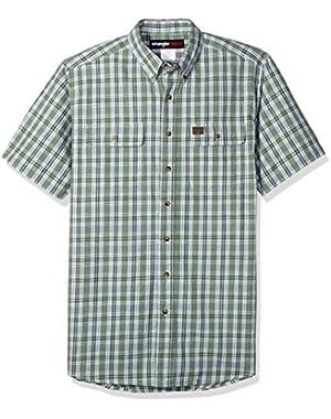 Men's Tall Size Riggs Workwear Foreman Plaid Work Shirt