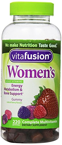 Vitafusion Women's Complete Multivitamin Natural Berry Flavors 220 Gummies
