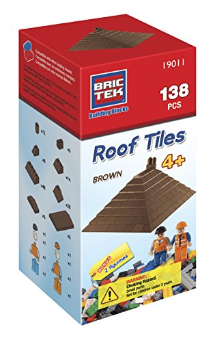 Brictek 138 pcs Roof Tiles - Brown 19011