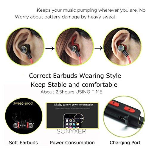 bluetooth earphone waterproof bluetooth earphones sonyxer wireless earbuds headset sport. Black Bedroom Furniture Sets. Home Design Ideas