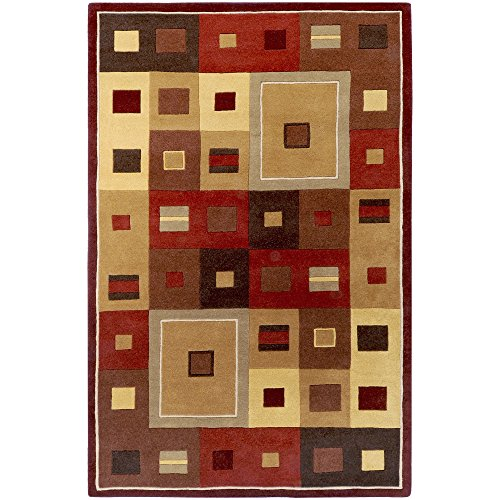 (Surya Forum FM-7014 Contemporary Hand Tufted 100% Wool Caramel 7'6