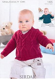 4042006e7fd9d Sirdar Boys Hooded Sweaters Tiny Tots Knitting Pattern 4498 DK ...