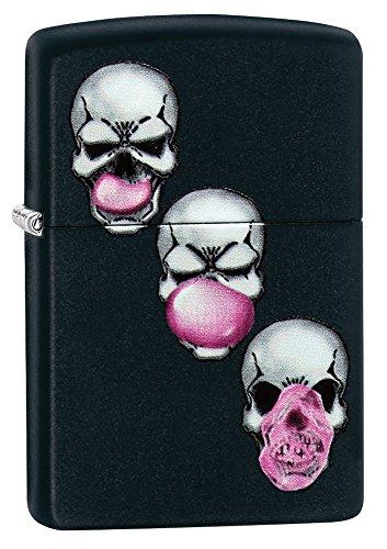 Zippo Skull Bubble Gum Pocket Lighter, Black Matte for sale  Delivered anywhere in USA