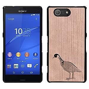 - Goose Bird Farm Animal Cute Ornithology - - Funda Delgada Cubierta Case Cover de Madera FOR Sony Xperia m55w Z3 Compact MiniSony Xperia m55w Z3 Compact Mini BullDog Case