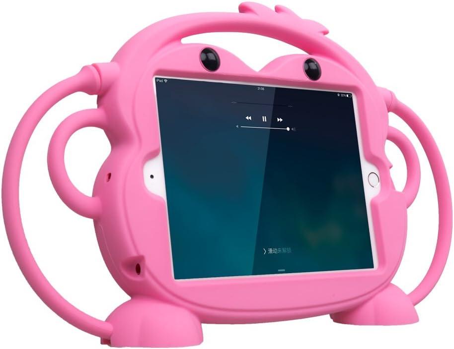 CHIN FAI para iPad Mini 5/4/3/2/1 Funda, Tableta Protectora a Prueba de Golpes Monkey de Doble Cara, Cubierta de múltiples ángulos de visión para Apple iPad de 7,9 Pulgadas Mini 1/2/3/4/5(Rosado)