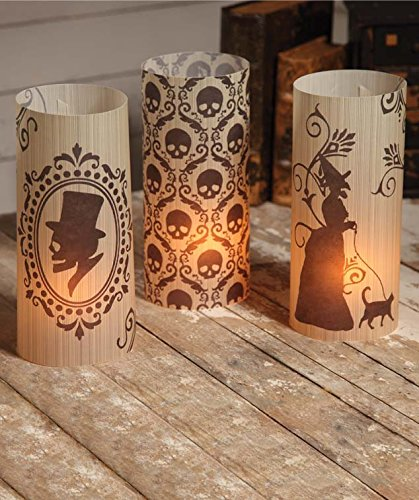 Bethany Lowe Vintage Silhouette Halloween Luminaries Set of 6 ()