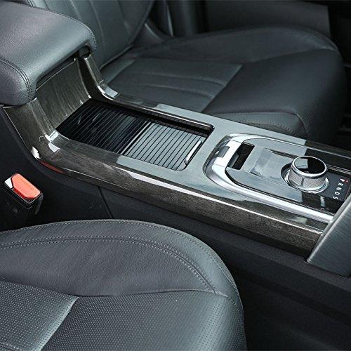 For Land Rover Discovery Sport Car-Styling Luxury Interior Accessory Chrome Gear Shift Panel Trim Sticker dark Wood Grain 2015+ (dark wood grain)