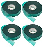 4 Rolls - Wide Tie Tape 150 FT x 1'' Heavy Duty 8 MIL, Stretch Plant Ribbon Garden Green Vinyl Stake