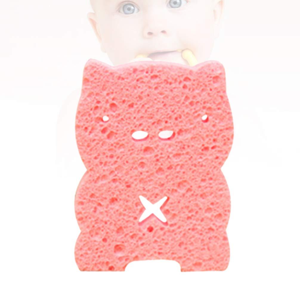 Pink Pig TOPBATHY 2Pcs Bath Sponge Natural Antibacterial Honeycomb Sponge Biodegradable Shower Sponge Baby Adults