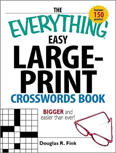 graphic about Easy Printable Crosswords titled The Something Uncomplicated Weighty-Print Crosswords Guide: More substantial and
