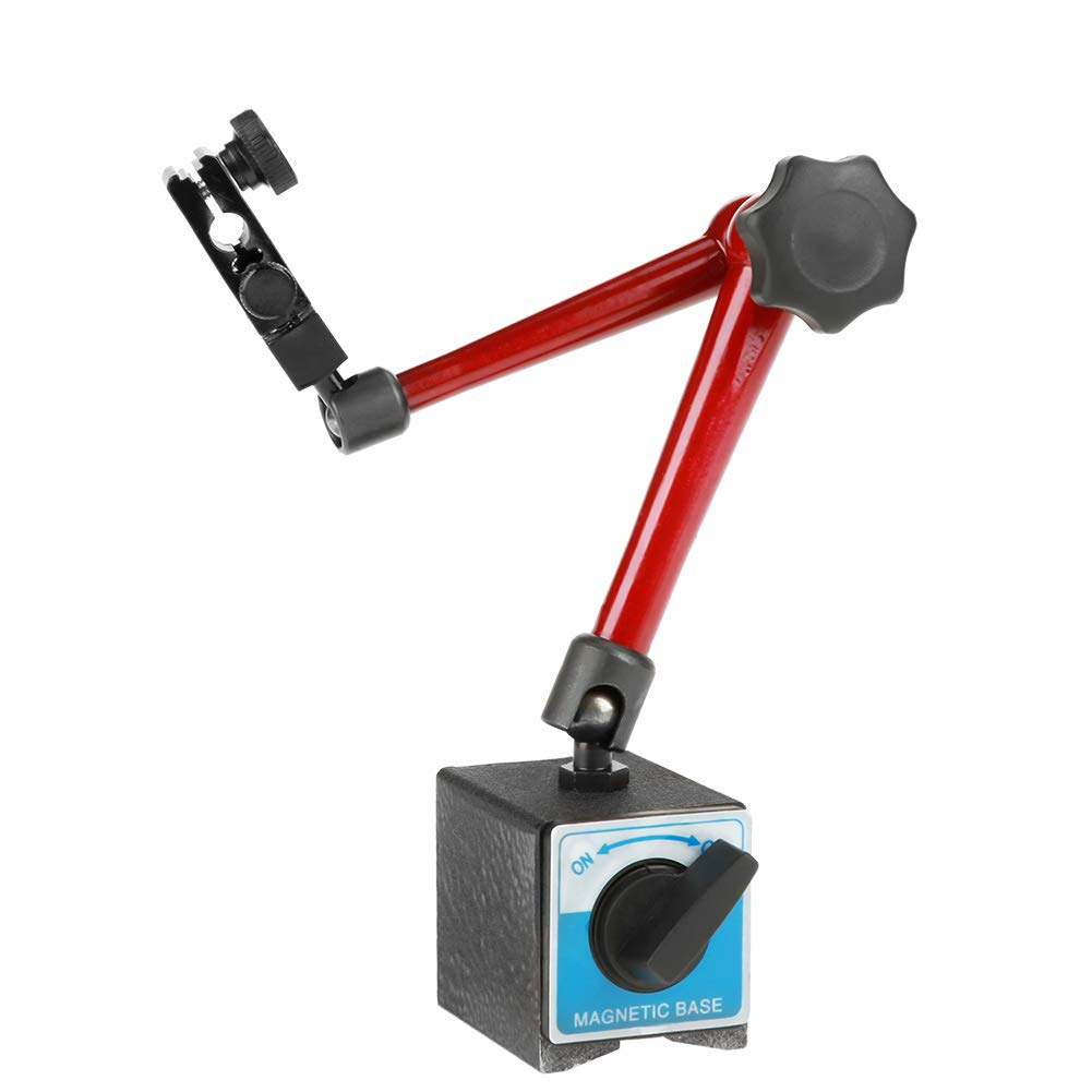 Kampre 350mm Gran Herramienta de Soporte de Soporte de Base de Metal Magn/ético Flexible Universal Grande para Indicador de Dial Prueba de Indicador de Dial