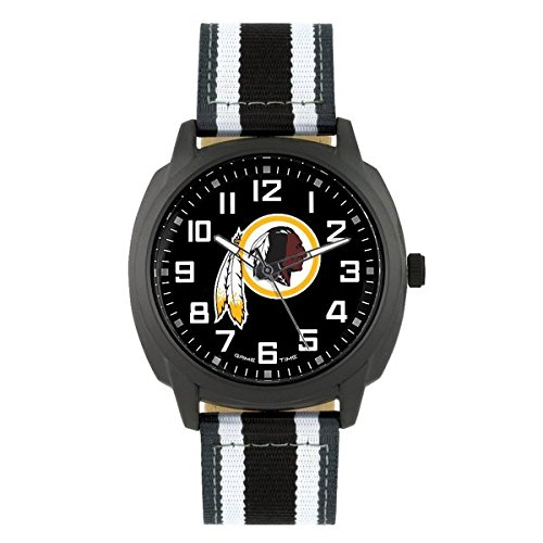 NFL Washington Redskins Mens Ice Series Wrist Watch, Black, One Size ()