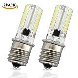 60 degree freezer - LudoPam E17 LED Bulb Lights 4 Watt Daylight White 6000K AC 110-120V Intermediate Base 80X3014SMD for Microwave Oven Light Appliance Lighting Pack of 2