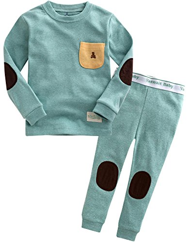 Vaenait baby Kids Boys Sleepwear Pajama 2pcs Set Pocket Mint XS]()
