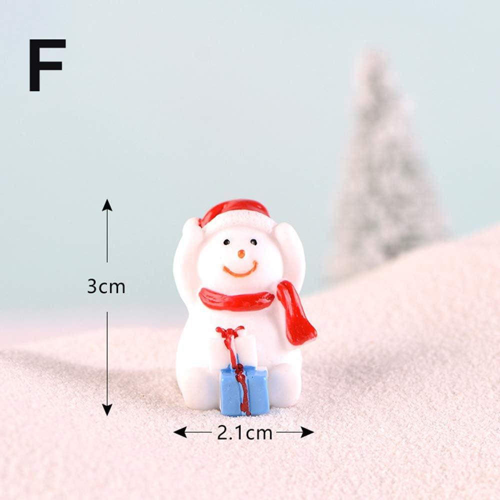 Figuren Dekoration Miniatur Weihnachten Miniatur Weihnachtsschmuck Weihnachtsmann Schneemann Weihnachtsfiguren Micro Weihnachtslandschaft A zhuangyulin6 Miniatur Weihnachtsschmuck
