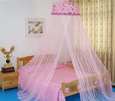 Housweety New Round Sequins Curtain Dome Bed Canopy Netting Mosquito Net (Pink), Model: , Home/Garden & Outdoor Store