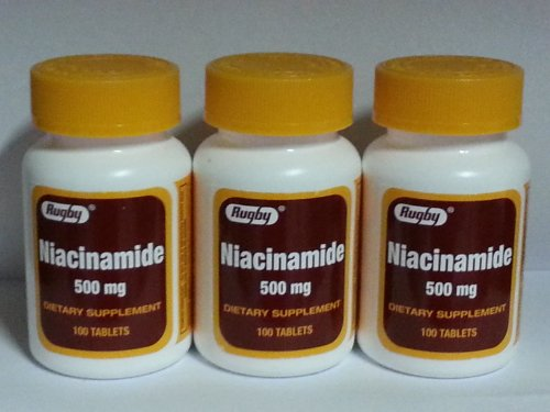 Rugby Niacinamide 500mg Tablets 100ct - 3 Pack ()